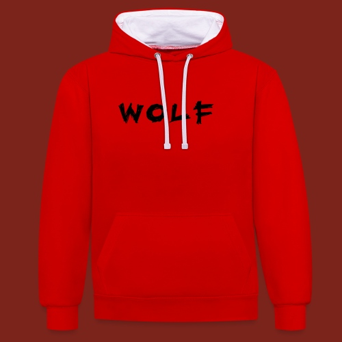Wolf Font png - Contrast hoodie