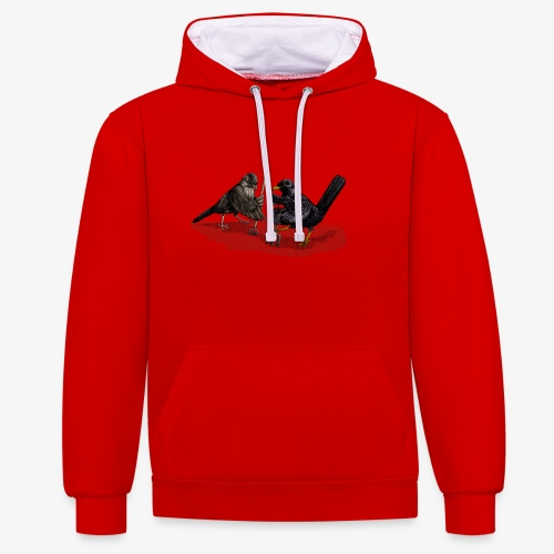 Blackbirds Gardeners - Contrast Colour Hoodie