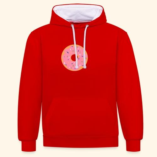 Donut-Shirt - Kontrast-Hoodie