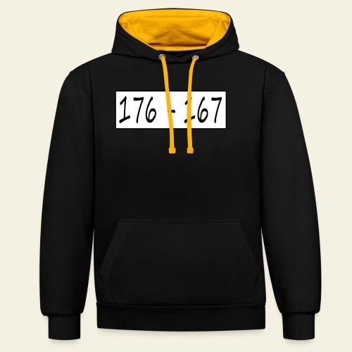 176167 - Kontrast-hættetrøje