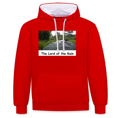 The Lord of the Rain - Neuseeland - Regenschirme - Kontrast-Hoodie