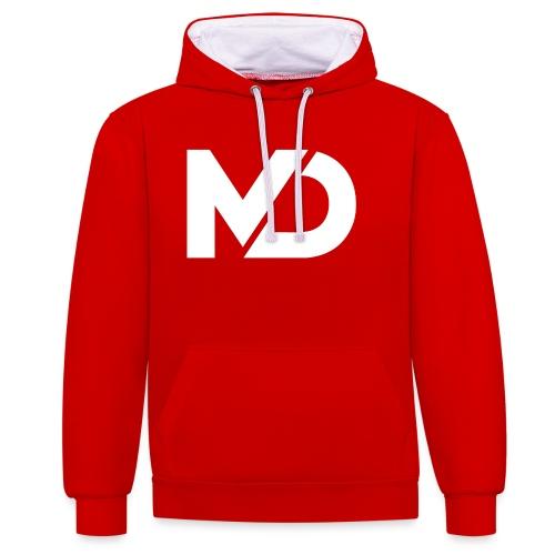 logo_wit - Contrast hoodie