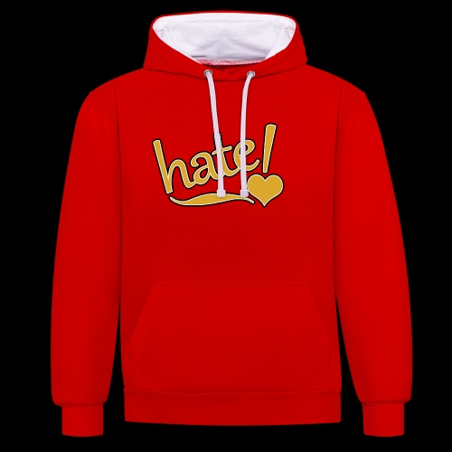 hate ! - Sweat-shirt contraste