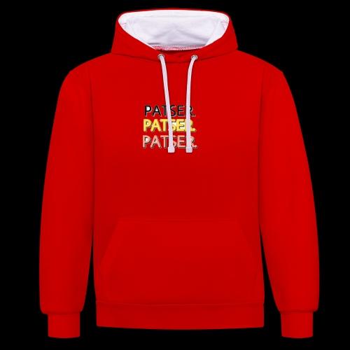 PATSER GOUD - Contrast hoodie