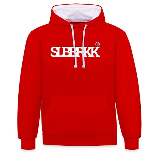 SLBBRKK white - Contrast hoodie