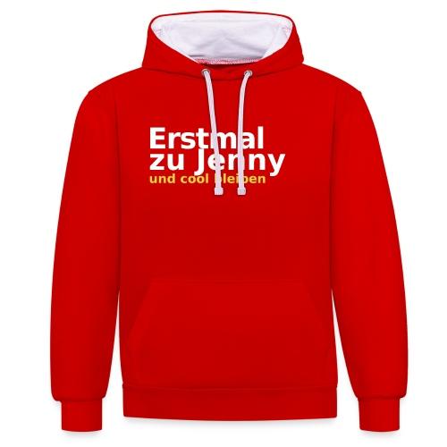 Erstmal zu Jenny - Kontrast-Hoodie