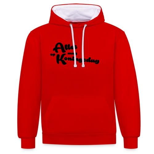 Alles mag op Koningsdag - Contrast hoodie