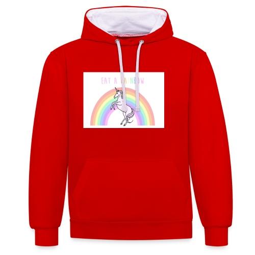 Eat a rainbow - Contrast Colour Hoodie