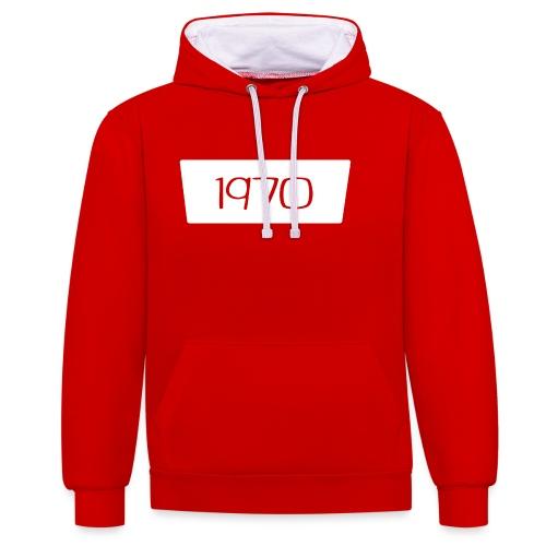 1970 - Contrast hoodie