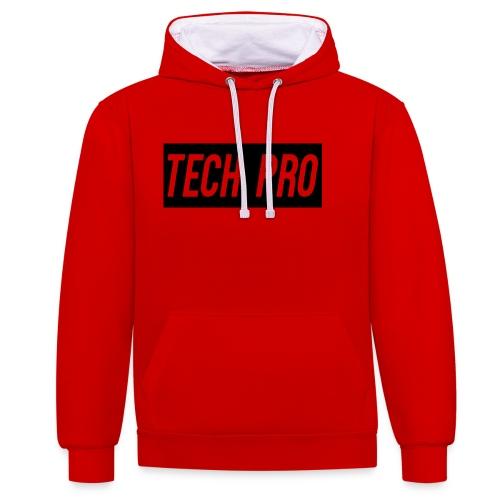 Tech Pro Official Logo - Contrast Colour Hoodie