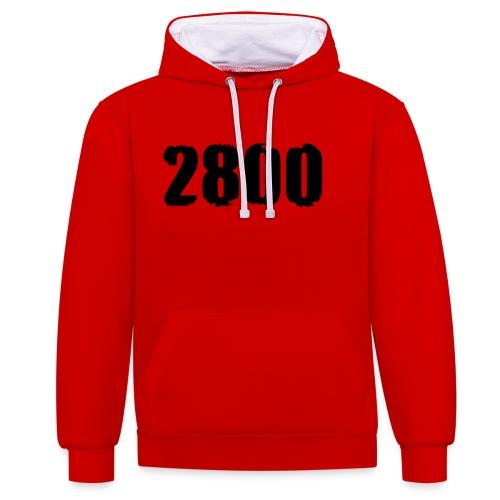 2800 - Contrast hoodie