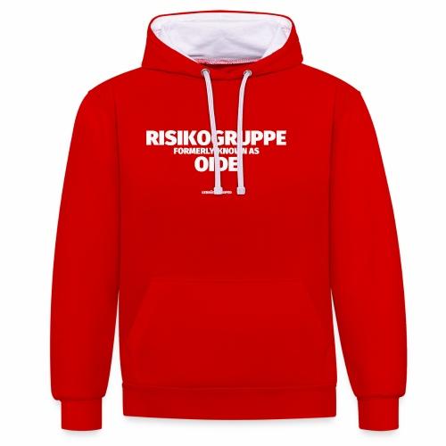 RISIKOGRUPPE formerly known as OID - Kontrast-Hoodie