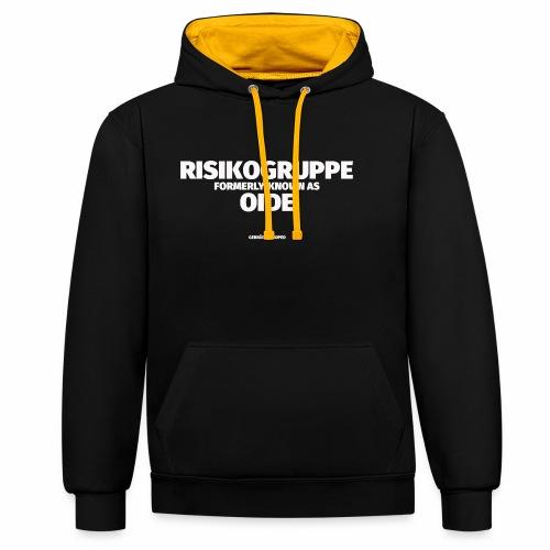 Risikogruppe Oide - Kontrast-Hoodie