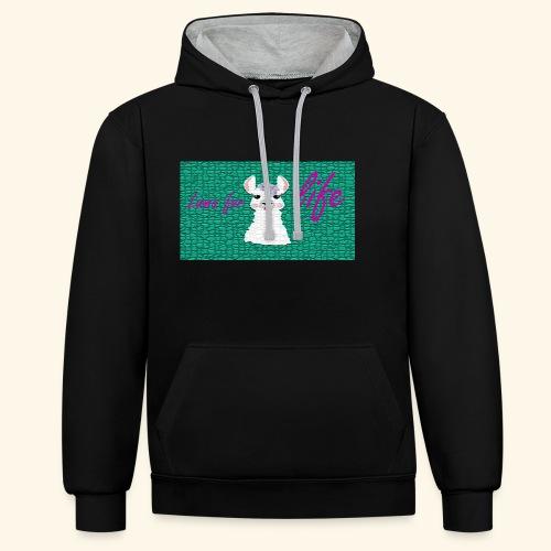 lama / alpaca - Kontrast-Hoodie