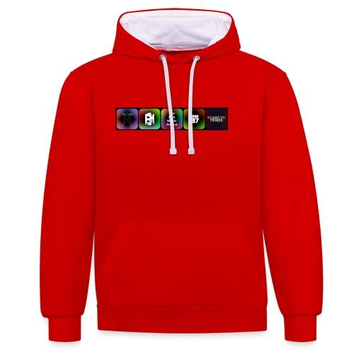 5 Logos - Contrast Colour Hoodie
