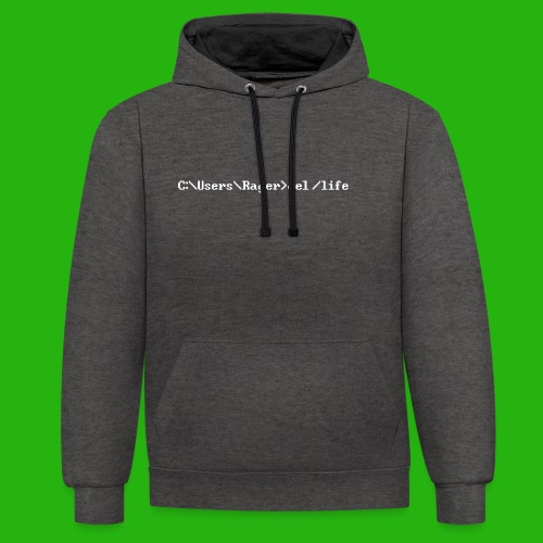 Programming Get A Life - Contrast Colour Hoodie