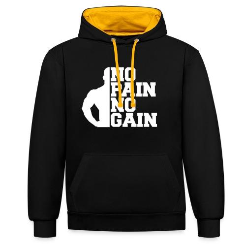 no pain no gain - Sweat-shirt contraste