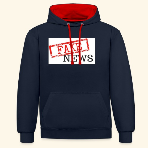 fake news - Contrast Colour Hoodie