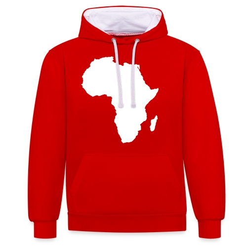 afro white - Contrast Colour Hoodie