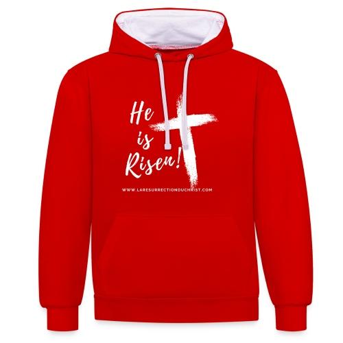 He is Risen ! V2 (Il est ressuscité !) - Sweat-shirt contraste