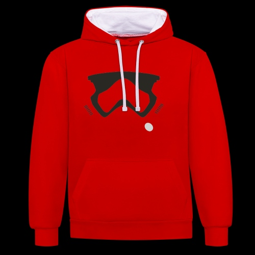 Modern Stormtrooper Face - Contrast Colour Hoodie