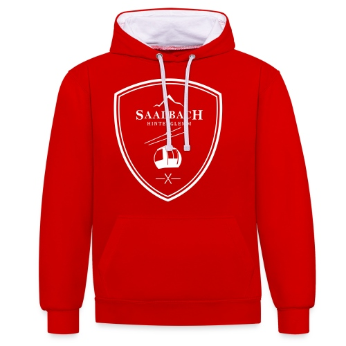 Skilift embleem Saalbach Hinterglemm - Contrast hoodie