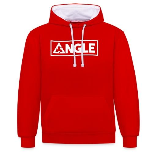 Angle Brand - Felpa con cappuccio bicromatica