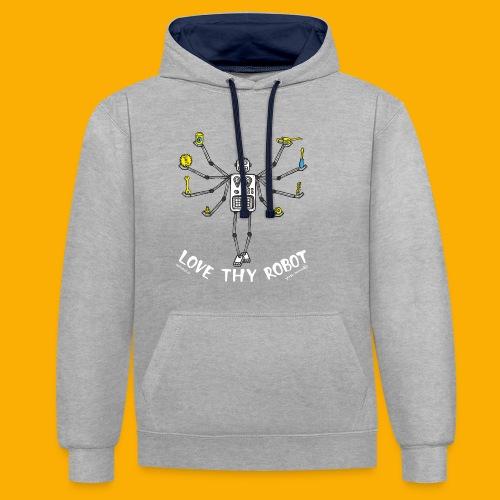 Dat Robot: Love Thy Robot Shiva Dark - Contrast hoodie