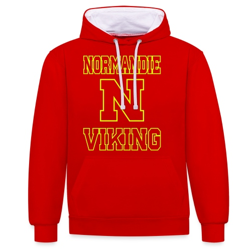 Normandie Viking Def jaune - Sweat-shirt contraste