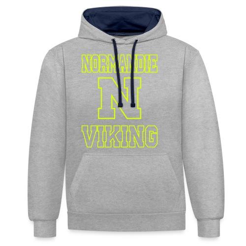 Normandie Viking Def jaune - Sweat-shirt contraste