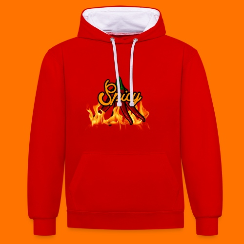 spicy png - Contrast Colour Hoodie