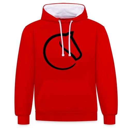 lichess logo - Contrast Colour Hoodie