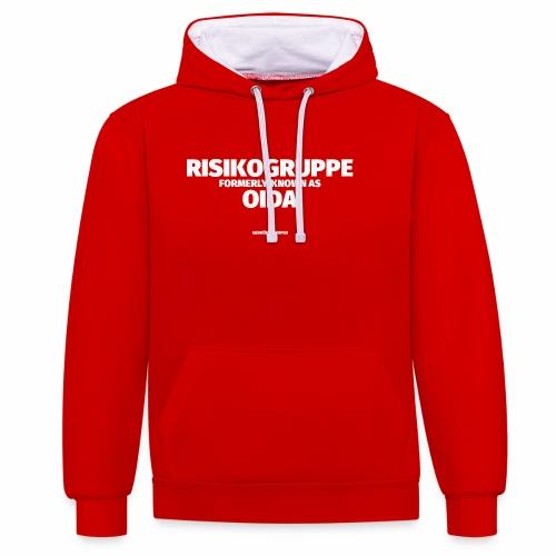 RISIKOGRUPPE formerly known as OIDA - Kontrast-Hoodie