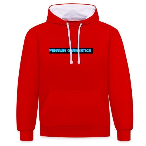 The penguin gymnastics - Contrast Colour Hoodie