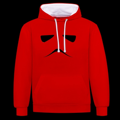 Stormtrooper Face - Contrast Colour Hoodie