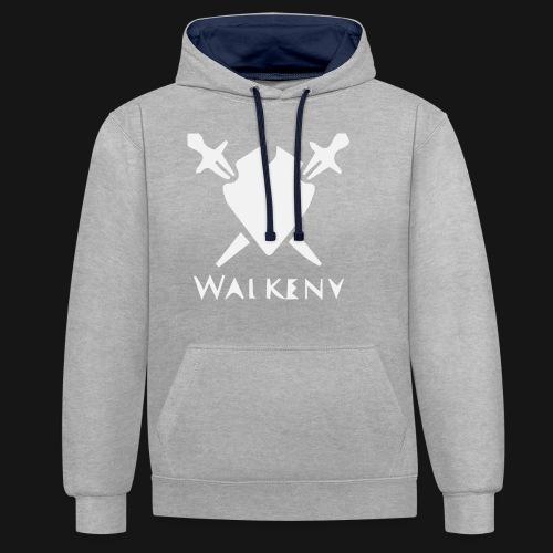 Walkeny Schwert Logo! - Kontrast-Hoodie