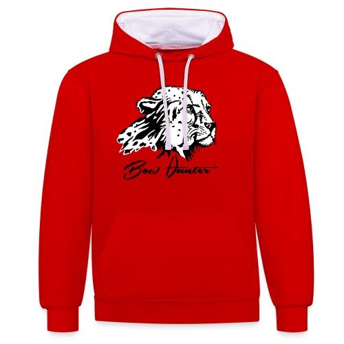 Bow Hunter Gepard 2 färbig - Kontrast-Hoodie