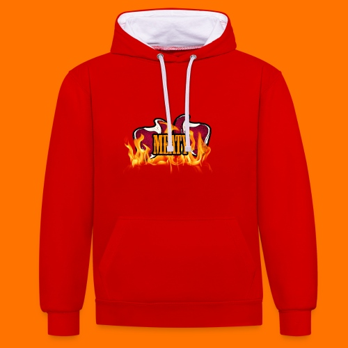 meaty png - Contrast Colour Hoodie