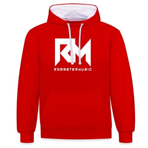Original RM-Logo White - Kontrast-Hoodie