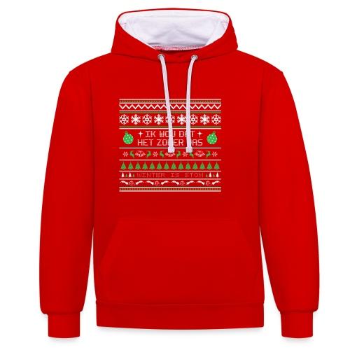 Kersttrui Zomer - Contrast hoodie