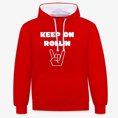 > Altijd blijven rollen met je rolstoel - Contrast hoodie