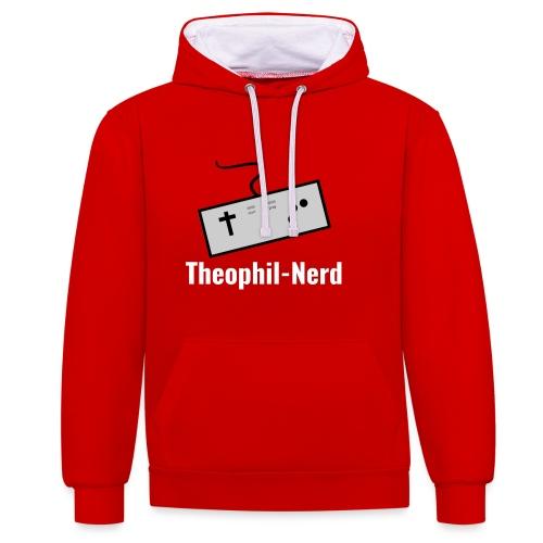Theophil-Nerd - Kontrast-Hoodie