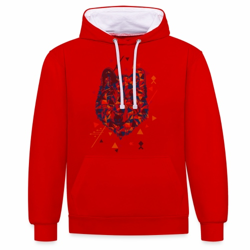 Bad Wolf - Contrast Colour Hoodie