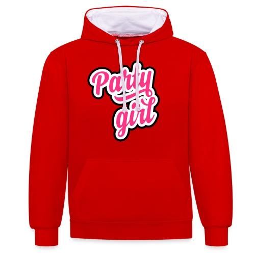 Party Girl - Contrast hoodie