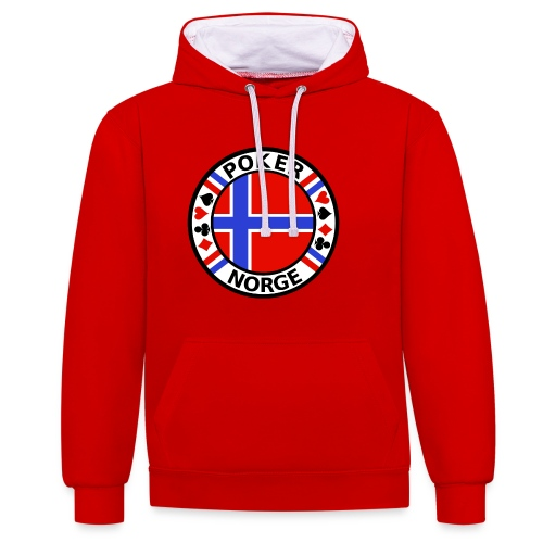 PoKeR NoRGe - Contrast Colour Hoodie