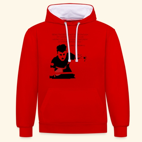 Table Tennis Championship serving - Kontrast-Hoodie