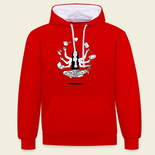All in one - MUM - Kontrast-Hoodie