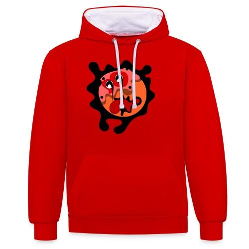 scary cartoon - Contrast hoodie