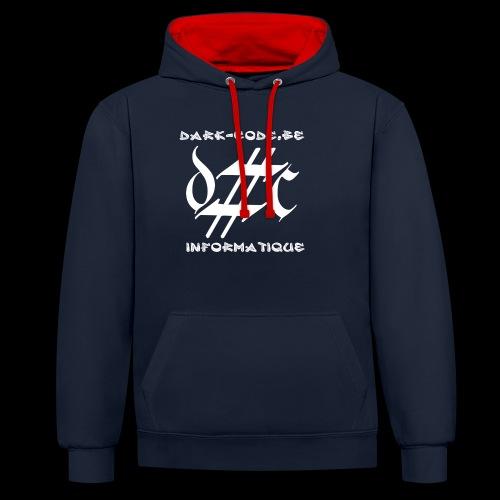 Dark-Code Gothic Logo - Sweat-shirt contraste