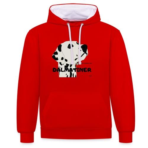 Home is where my Dalmatiner is ! - Kontrast-Hoodie